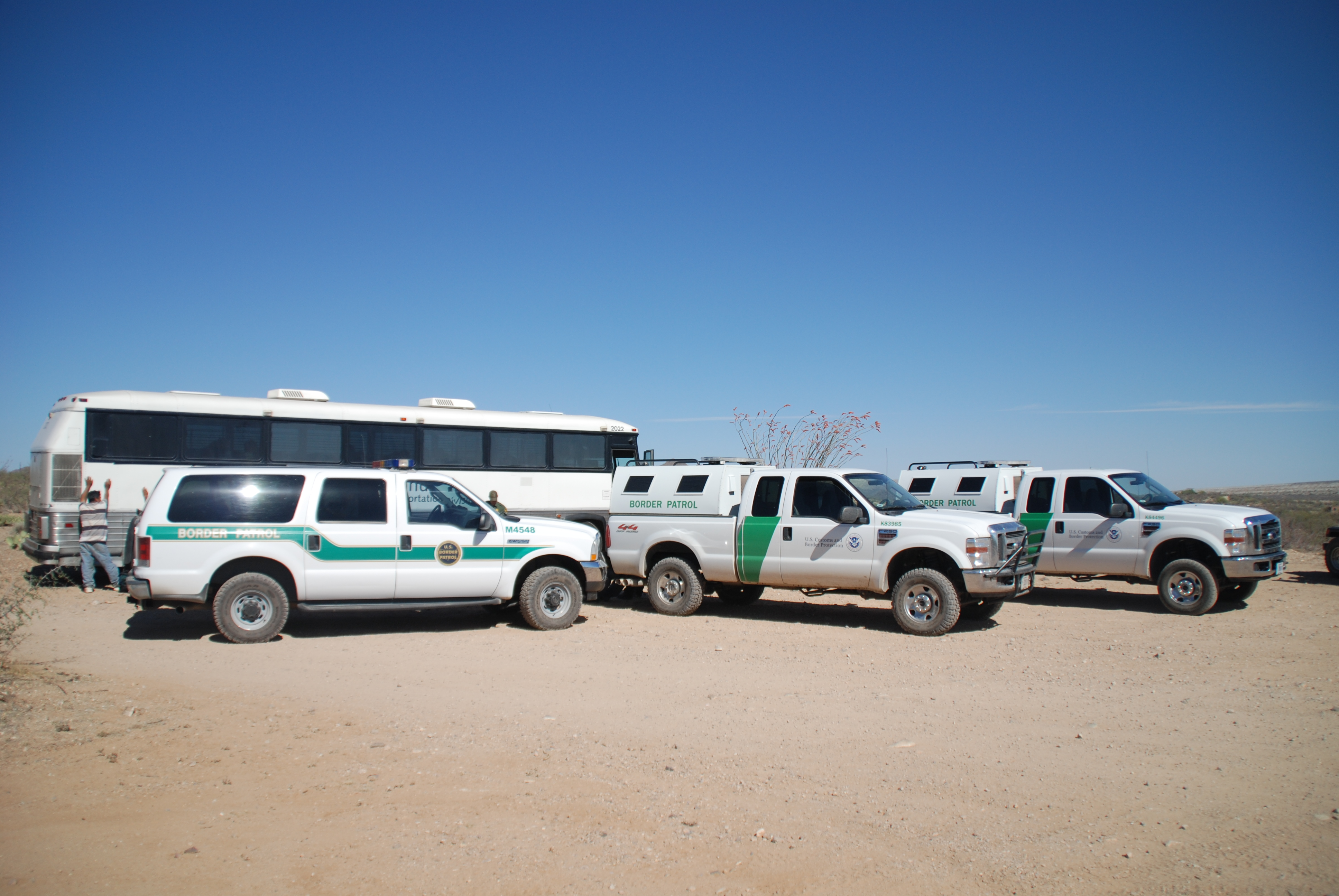 Border Patrol Vehicles Border patrol agents apprehend
